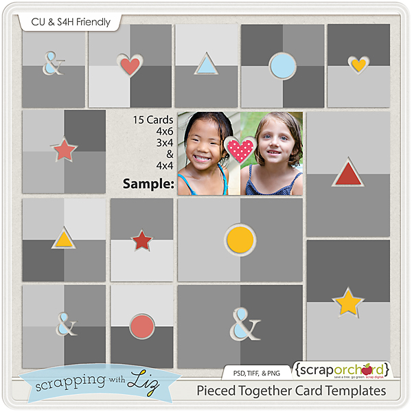 http://scraporchard.com/market/Pieced-Together-Digital-Scrapbook-Card-Templates.html