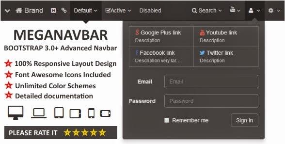 Advanced Navbar for Bootstrap 3.0+