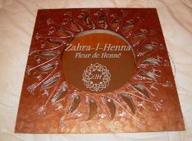 Miroir décoration henné
