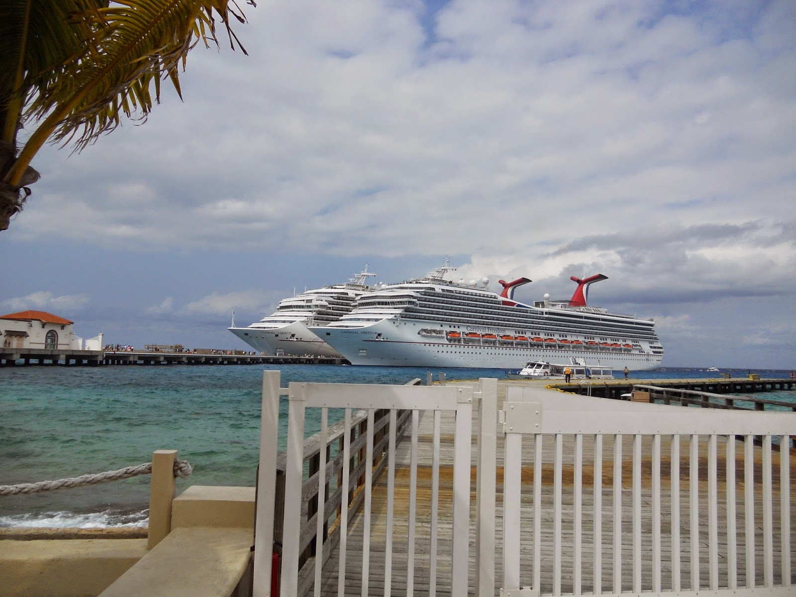 Two Carnival ships in Cozumel