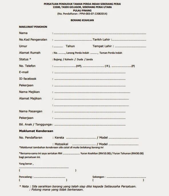 Contoh Carta Organisasi Persatuan Penduduk Contoh Gil
