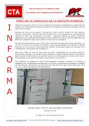 ROBO EN LA CARACOLA DE LA SECCIÓN SINDICAL