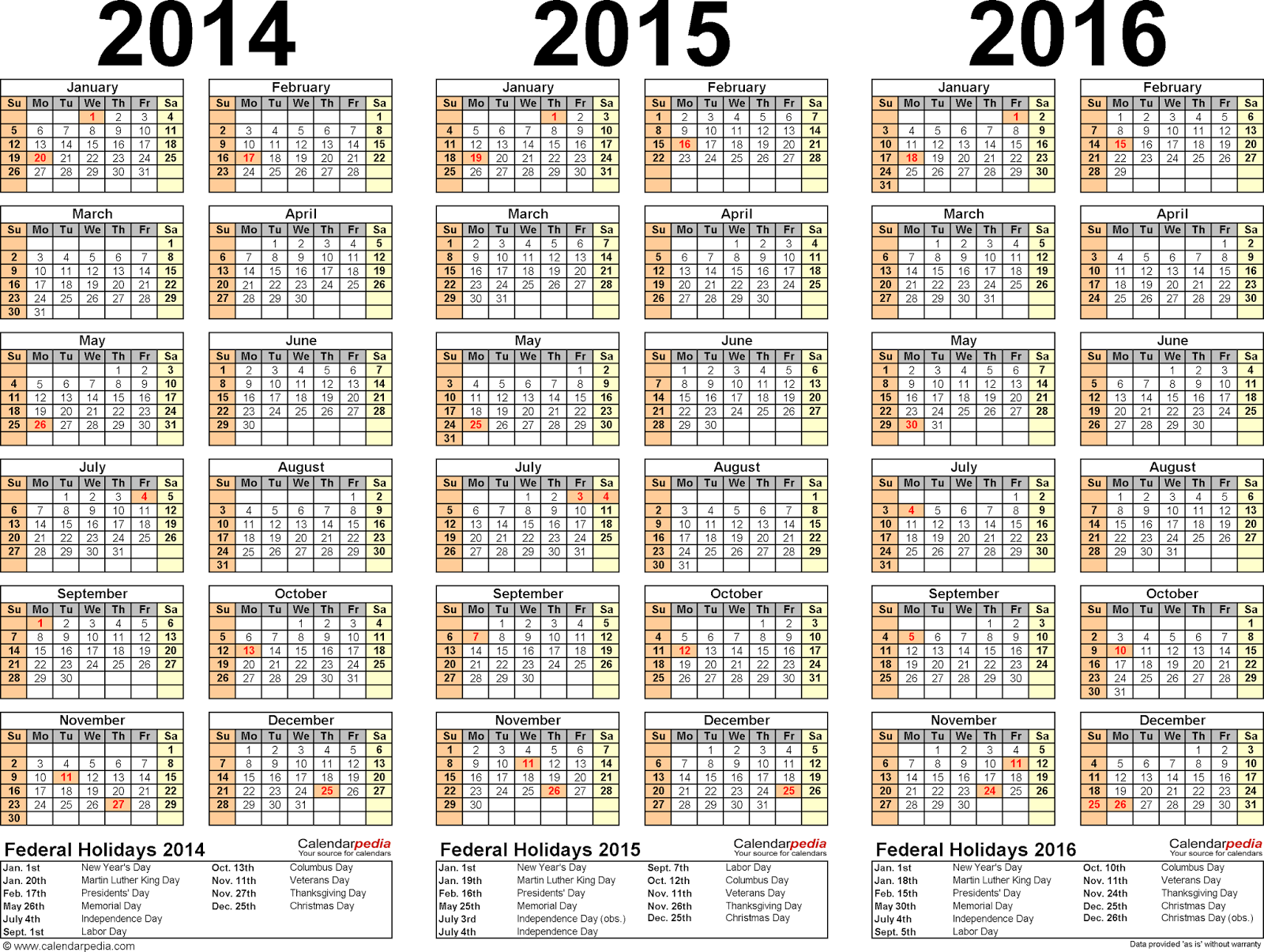 ... 2014 2015 2016 مذكره 2014 2015 2016 three year calendars