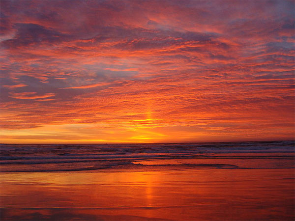Sunset at a beautiful Californian Beach