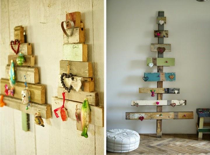 arbol de navidad reciclado con palets
