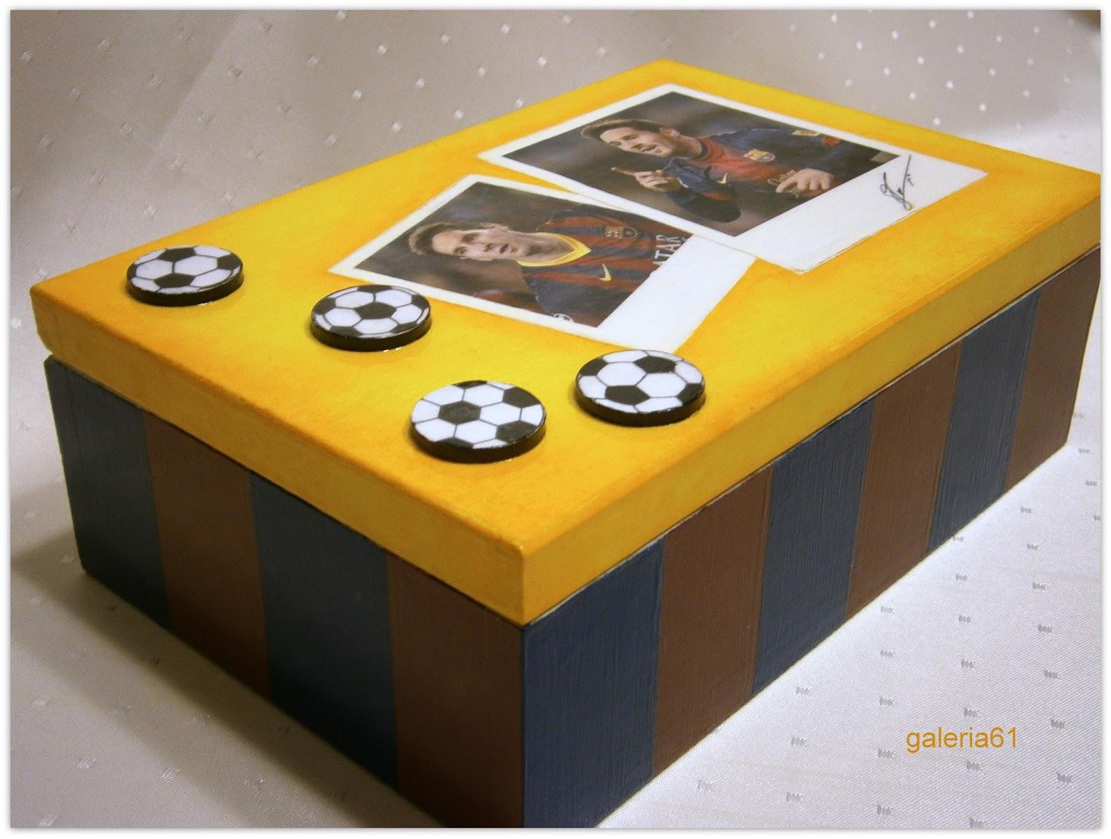 skrzynka decoupage dla chłopca, piłka nożna, Leo Messi, futbol