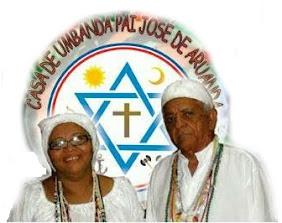 O saudoso Pai de Santo José Jaime Rolim e Mãe de santo Kathia de Oxala