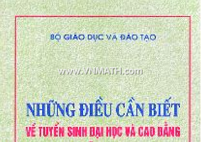 nhung dieu can biet ve tuyen sinh dai hoc cao dang nam 2012