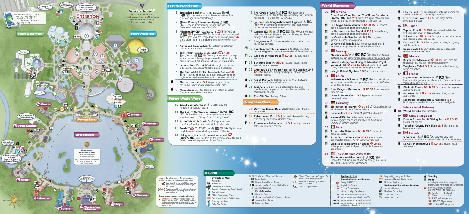 map over epcot