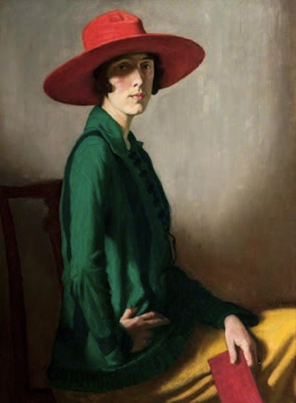 W Strang. Lady with a Red Hat (Vita Sackville-West), 1918