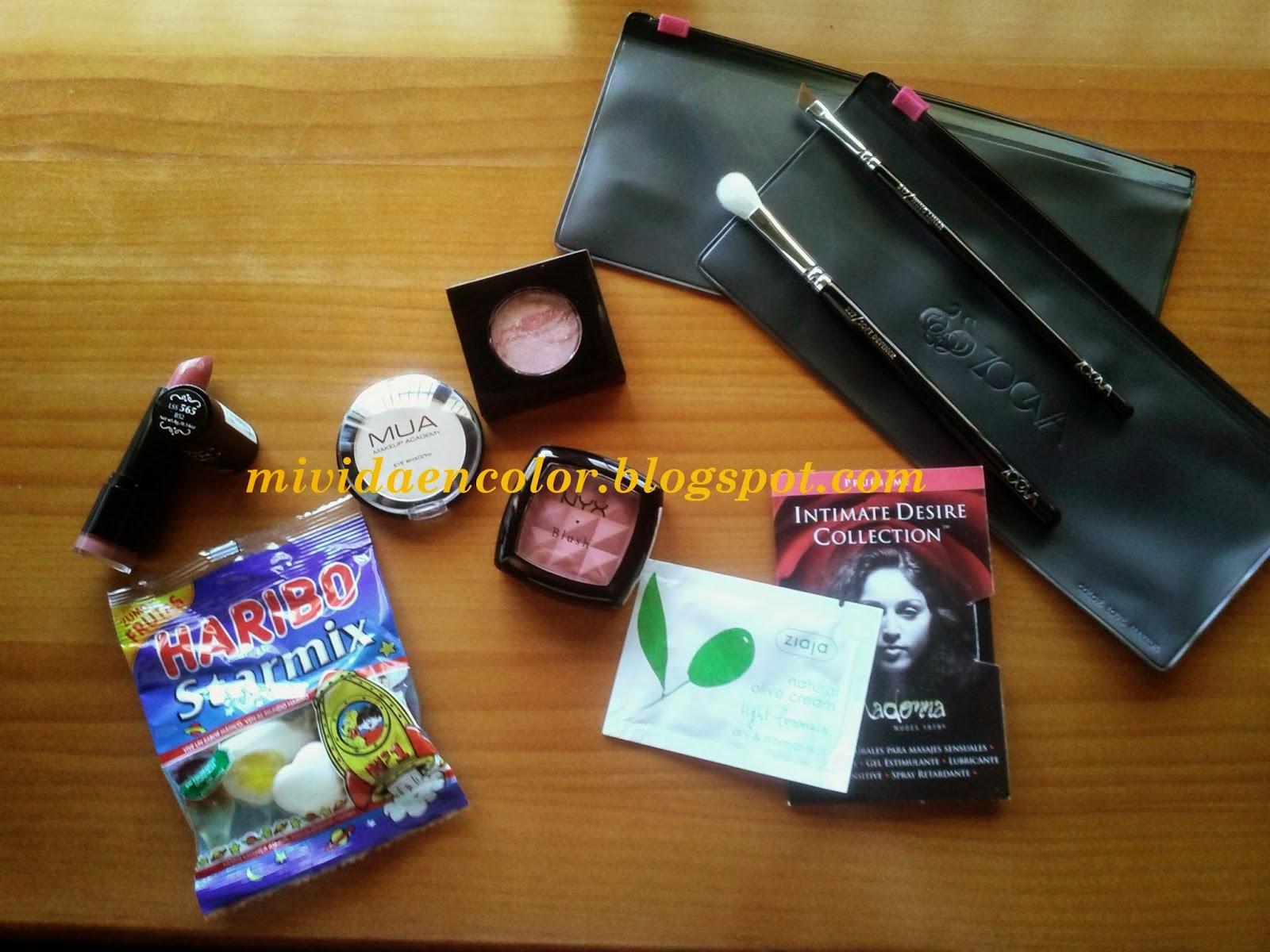 Haul-review-swatch-reseña-opinion-productos-nyz-labiales-pintalabios-B52-colorte-amber-nyx-sombra-ojos-mate-vainilla-17-MUA-colorte-fashionista-color-newyork-pincel-delinear-pincel-difuminar-ZOEVA