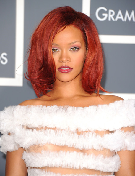 rihanna hot pink dress. Rihanna at the Grammys,