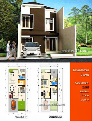 contoh denah rumah lebar 5 meter desain rumah share the