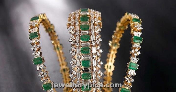 emarald cz bangle set by tibarumal jewellers latest