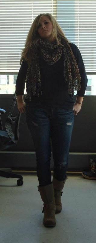 #H&M-linen-blend-sweater-leopard-print-scarf-vince-tank