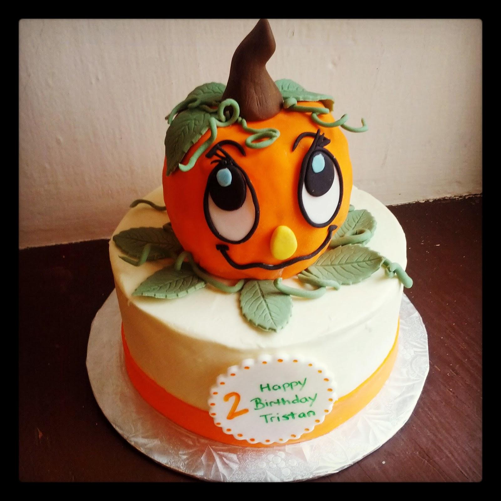 pumpkin birthday cake designs