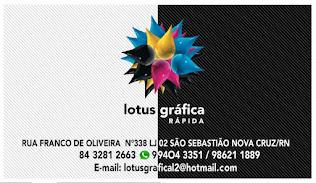 LOTUS GRÁFICA RÁPIDA - (84) 3281 2663 - 994043351 - Waltssap - 98621 1889