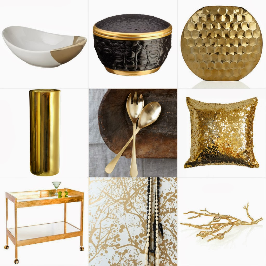the savvy girl's guide to life: Currently Drooling Over: Gold Home