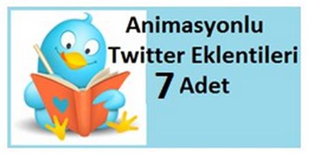 Animasyonlu Twitter Eklentileri 7 Adet