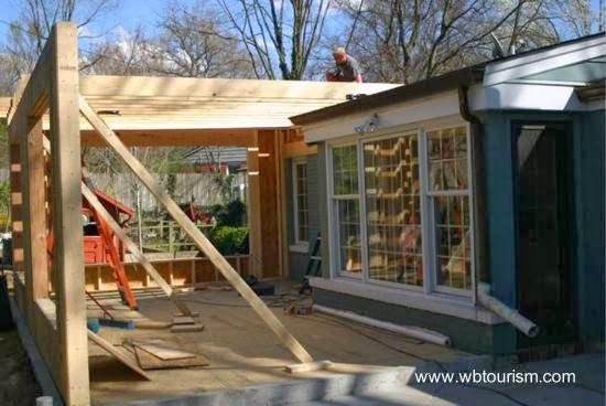 Remodelación con madera en una casa residencial