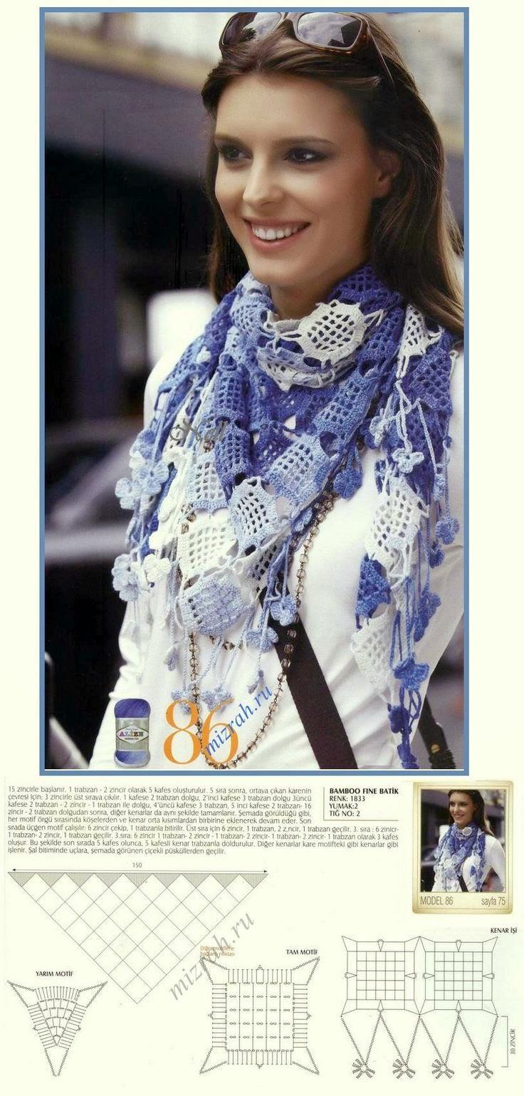 Pashmina al crochet