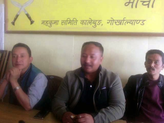 Binay Ghisingh  general secretary of the Gorkha Janmukti Yuva Morcha