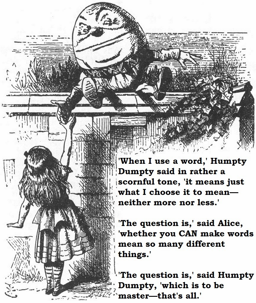 Alice & Humpty Dumpty.