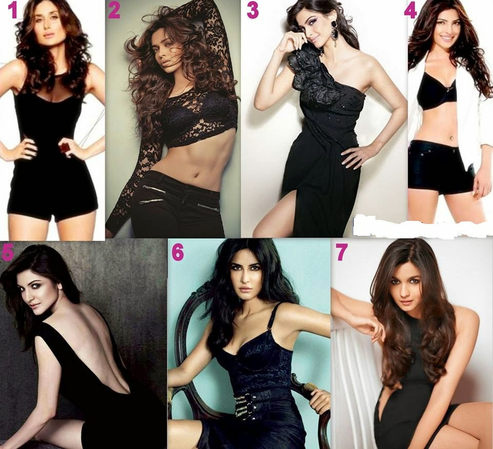 Bollywood actresses in black dress