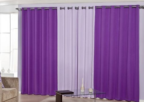 Cm bordados e presentes personalizados cortina para sala for Cortinas para sala de estar