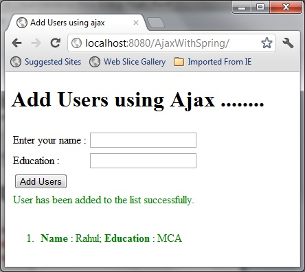 Spring MVC and JQuery for Ajax Form Validation | Java Code Geeks ...
