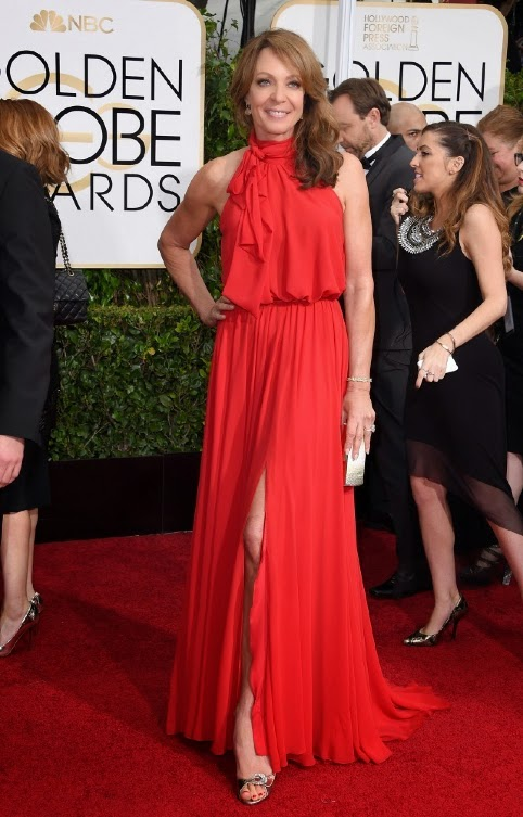 Allison Janney Red Carpet Golden Globes Dress