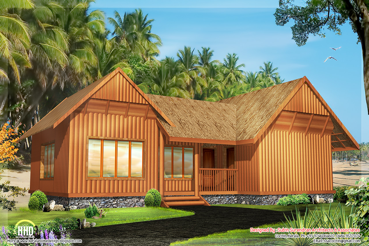 December 2012 kerala home design and floor plans for Cabin home plans and designs