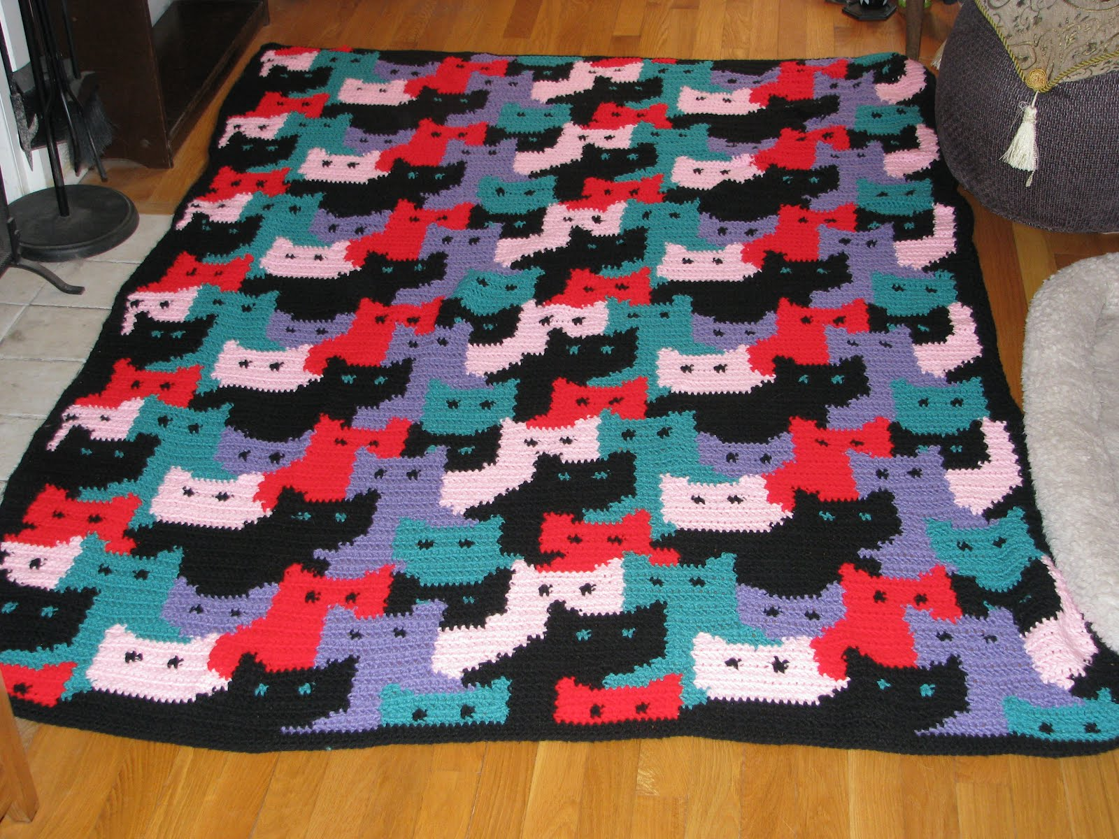 Crochet Cat Afghan Pattern : Craft Attic Resources: April 2012