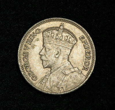 British Fiji coins Sixpence Silver Coin King George