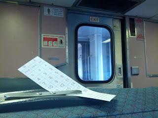 NJ Transit rail car interior