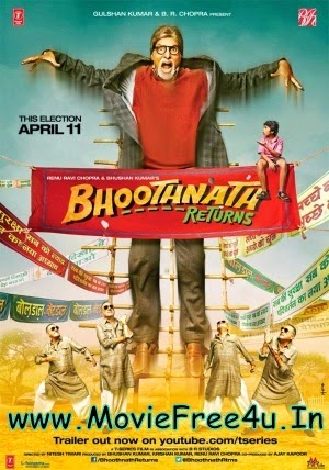 Poster of Bhoothnath Returns (2014) DVDScr Hindi bollywood  free download at moviefree4u.in