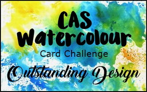 CAS Watercolor Card Challenge