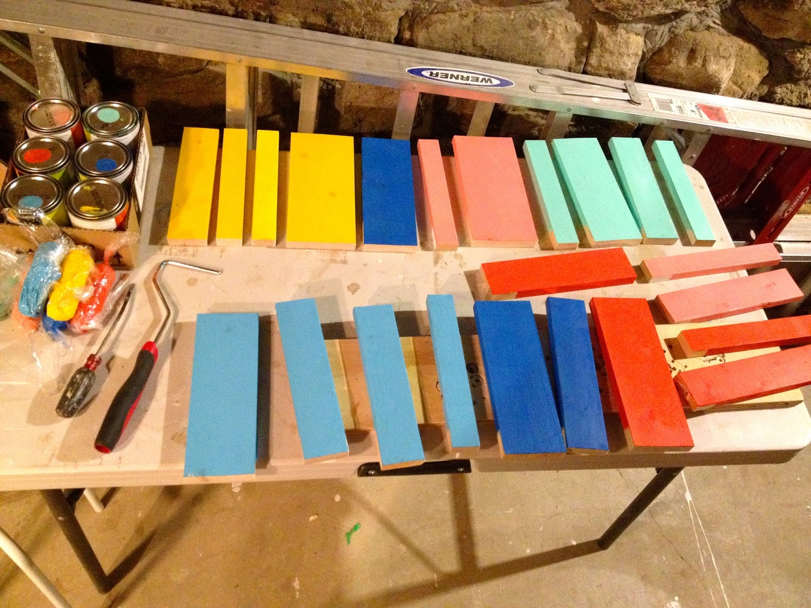 diy planked sign painted boards