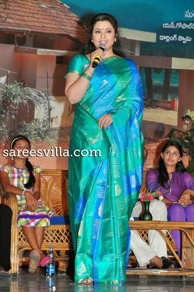 Meena In Uppada Silk Saree