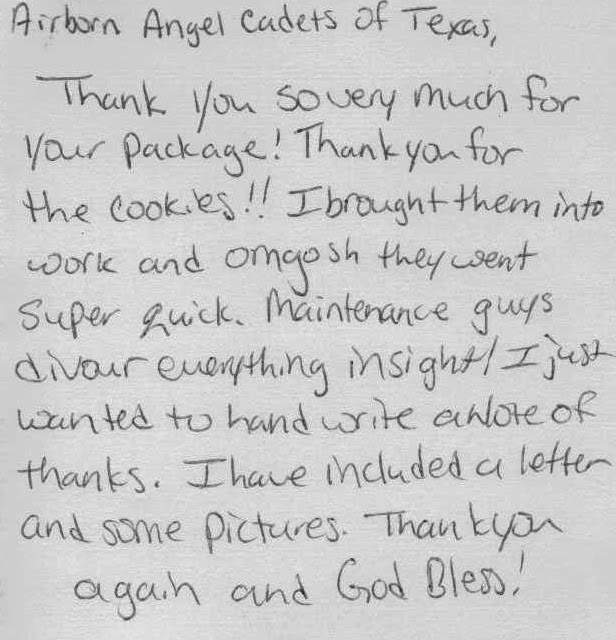 how to thank a soldier in a letter