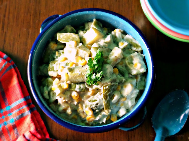 Zucchini & Corn w/ Cream - lacocinadeleslie.com