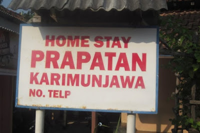 plang nama homestay prapatan karimun jawa