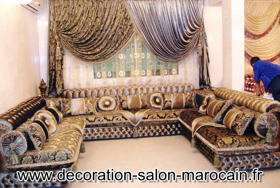 Les Rideaux Beldi 2017 : Décoration de salon marocain rideaux pour les salons