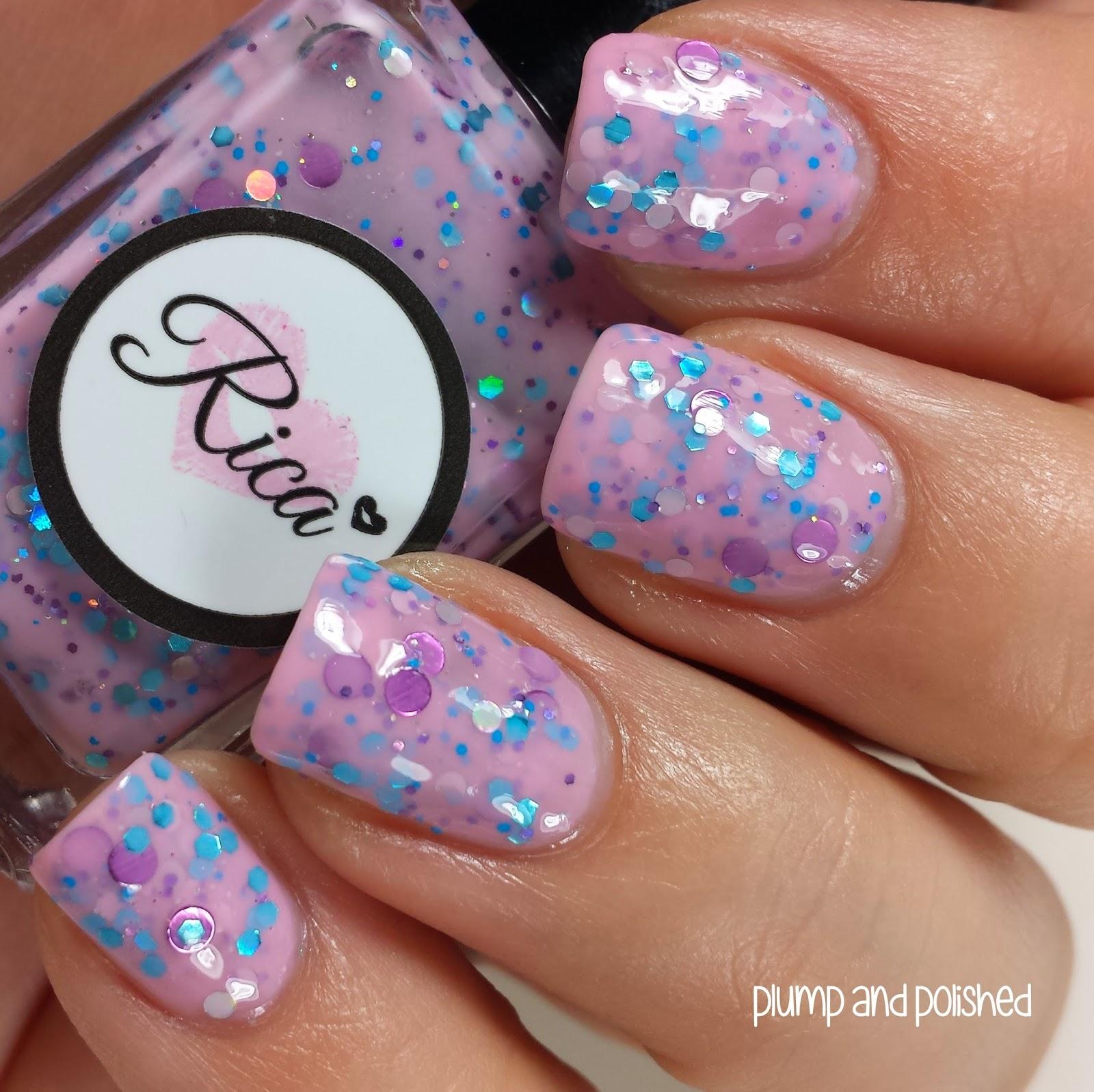 Cotton Candy Satin Fingernail Polish: Unicorns In Technicolor Collection