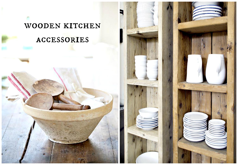 wooden accessories kitchen