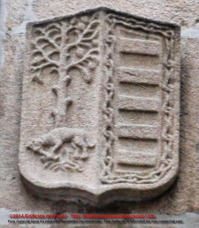Segundo Escudo en la portada del pazo de Oca de Ourense