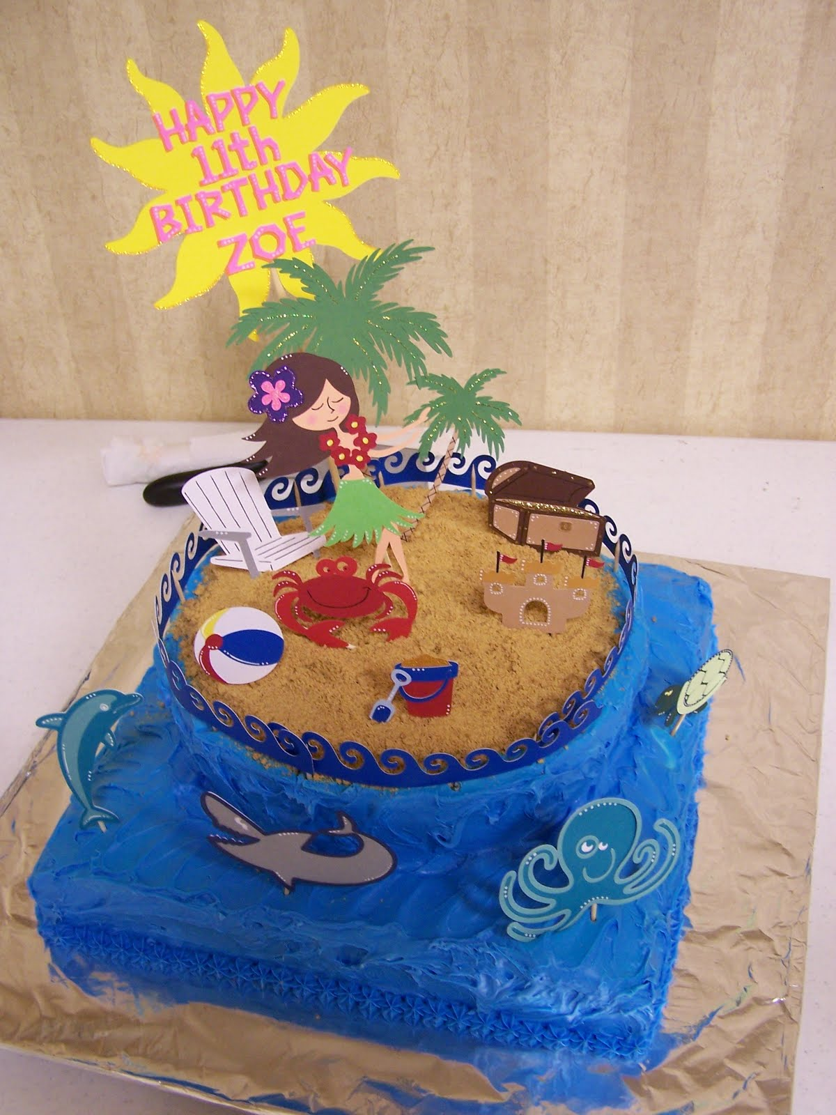 How To Make A Dolphin Cupcake Cake