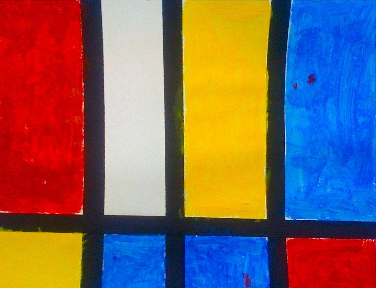 Primary Colors With Mondrain