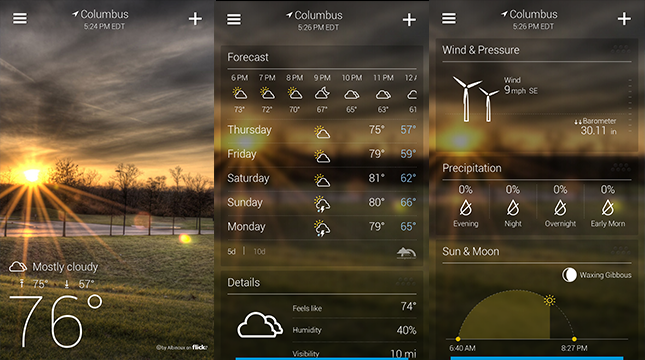 Yahoo! Weather-Android Weather app