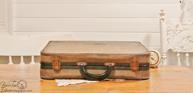 Antique Suitcase Luggage available from Knick of Time